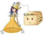 Calculus-chan and Cube-san by NocturnalPhantasy
