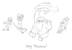 Horrible Christmas Card by Knitti