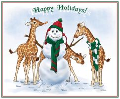 Christmas 07 - Giraffes by AmyClark