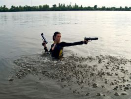 Lara Croft wetsuit - Shooting by TanyaCroft