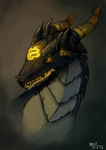 The King of Onyx Dragons by noctnoku