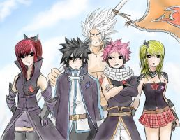 Fairy Tail: Team A by TimTam13