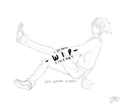 [lineart] WIP: Soul Eater Evans by jecca-zn