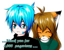 Thank you for 5,000 Pageviews by MisterKidder