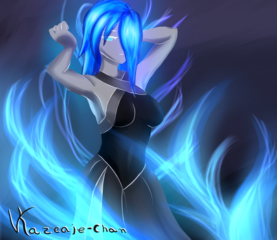 Lady Blue Flame by Victoriaiso