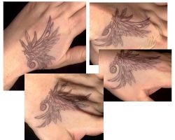 Faux Wing tattoo by aichan25