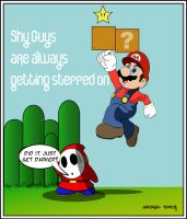 Shy Guys Alway Get Stepped On by Kyd-Lotus