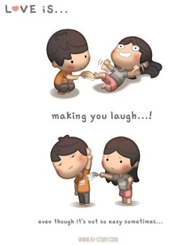 Love is... Making you laugh by hjstory