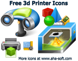 Free 3d Printer Icons by aha-soft-icons