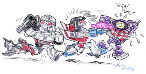 Little Decepticon Brats by blackhellcat