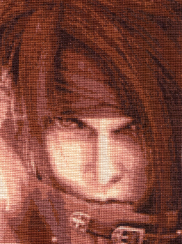 Vincent Valentine-Cross Stitch by shingorengeki