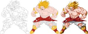Broly Evolucao by alleckx