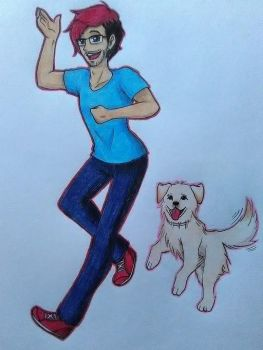 Markiplier and chica by vampiricdemoncutie
