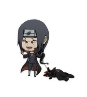 Itachi and Crispy by Zerucune