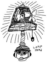 daily doodle: lamp head by gunezzue