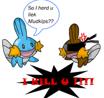 So I herd u liek Mudkips?? by RockTheEchidna