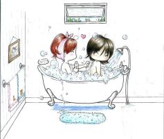 In the tub by Padoras-Locket