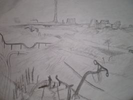 Post-apocalyptia... SKETCH by Myaskill