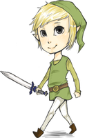Cartoon Link Chibi by Sharkii1