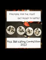 Rice Ball Eating Competition 2012 by blazeraptor