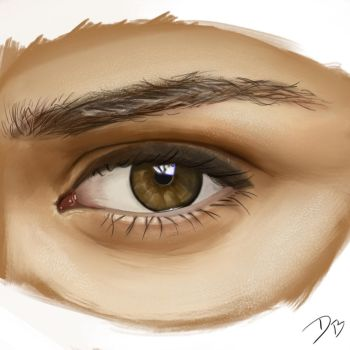 Brown Eye Study by DougBurbridgeArt