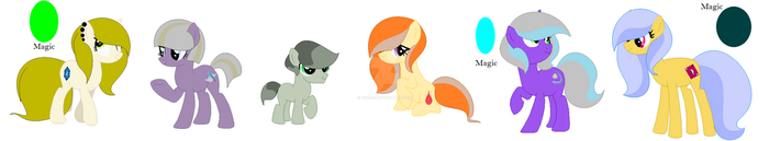 The Pie cousins (without Pinkie's kids) by SouloftheDragonTamer