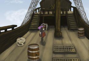 A-May on the pirate ship by MKUSecondGeneration2
