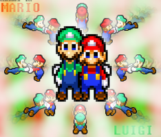 Mario and Luigi: Brotherly Love by FaisalAden