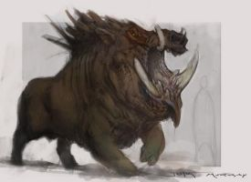 God of War - The Boar God by Raggedy-Annedroid