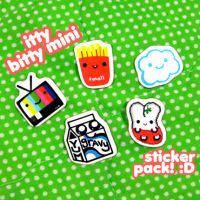 itty bitty mini sticker pack by ilovegravy