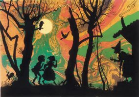 Hansel and Gretel Endpapers by JohnPatience