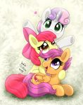 MLP FIM - Cute Sweetie Belle Apple Bloom Scootaloo by Joakaha