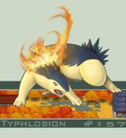Typhlosion by FedoraCat