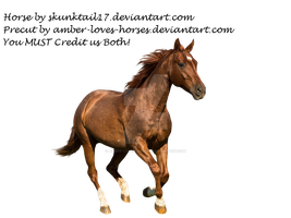 Sorrel/Chestnut Horse Precut by Amber-Loves-Horses