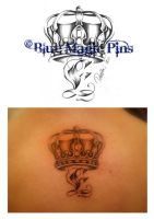 Crown with letter E by anchica