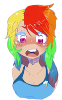Rainbow Dash Humanized Doodle by RaiseTheSail
