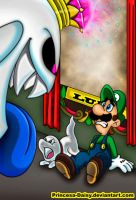 Luigi's Mansion 3 comic - Dark Illusions Cover by Princesa-Daisy