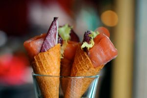 smoked salmon cones by aperture24