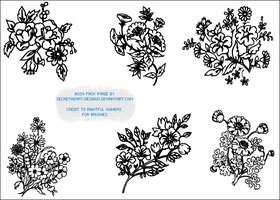 Flower Image Brush Pack 2 by secretheart-designs