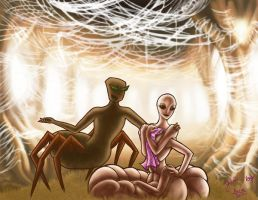 Collab - Silkworm and Spider by thrivis