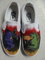 Battle Royale Vans by veronicashei