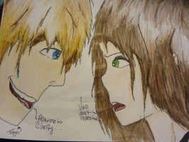 Tosya and Ashley by horrorwriter34