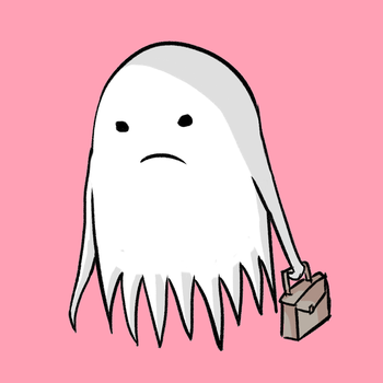 Sad Business Ghost by joodling