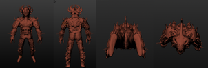 Demon monster 3D model by TheIcedWolf