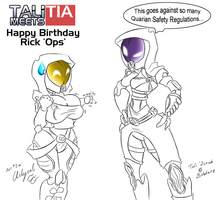 Ops Birthday - Tali meets Tia by Arlyurl