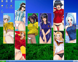Bleach One Piece Soccer Girls by KOFKim87