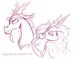 Discord Celestia sketch by StePandy