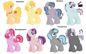 MLP fanfoal adoptables sheet CLOSED by Strawberry-Spritz
