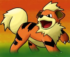 Growlithe Airbrush by TheSerotonin