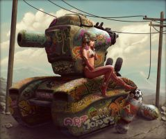 Tank Girl Pepper by StMan